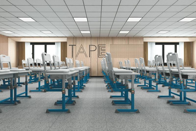课桌椅空间布置,提高学生学习思考积极性